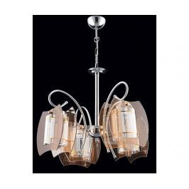 Lustr Nancy Chrome Brown Four Závěsné lampy
