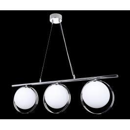 Závěsná lampa Carrisa Chrome Three