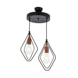 Závěsná lampa Marlene Black Copper Two