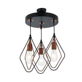 Závěsná lampa Marlene Black Copper Three