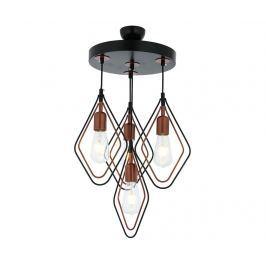 Závěsná lampa Marlene Black Copper Four