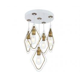 Závěsná lampa Marlene White Antique Five