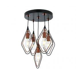 Závěsná lampa Marlene Black Copper Five