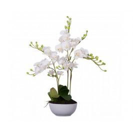 Umělá květina v květináči Fiori White Orchid