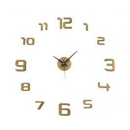 Samolepka s nástěnnými hodinami Golden Round