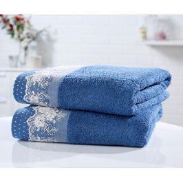 Sada 2 ručníků Chantilly Blue 90x140 cm