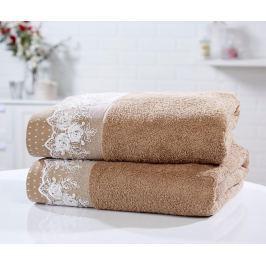 Sada 2 ručníků Chantilly Latte 90x140 cm