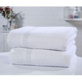 Sada 2 ručníků Rhinestone Diamante White 90x140 cm