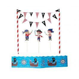 Sada 5 dekorací na dort Pirate Fun
