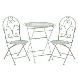Sada venkovní stůl a 2 skládací židle Abrielle