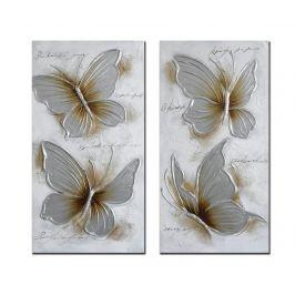 Sada 2 obrazů Darcie 50x100 cm