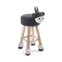 Dětská židlička Animal Dark Gray