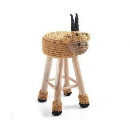 Dětská židlička Animal Yellow