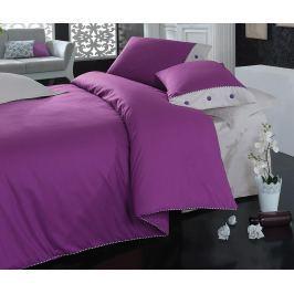 Ložní povlečení Single Ranforce Plain Line Purple Grey