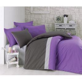 Ložní povlečení Single Ranforce Plain Sport Purple Grey
