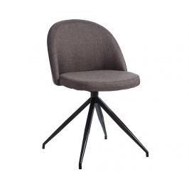 Otočná židle Abigail Dark Grey