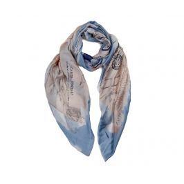 Šátek Postal Blue 90x180 cm