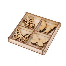 Sada 20 dekorací DIY Butterflies