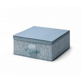 Úložná krabice s víkem Tweed Azure M