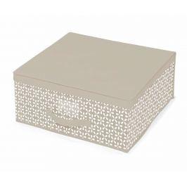 Úložná krabice s víkem Lily Beige M
