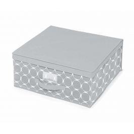 Úložná krabice s víkem Hoop Grey M