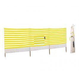 Paraván proti větru Stripes Yellow