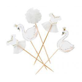 Sada 12 dekorací na dezert We Heart Swan