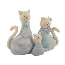 Dveřní zarážka Cat Family Blue