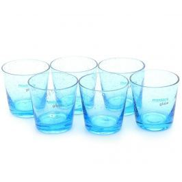 Sada 6 sklenic na likér Bubbles Blue