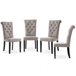 Sada 4 židlí L'officiel Interiors Taylor Taupe