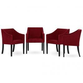 Sada 4 židlí Guy Laroche Illusion Red