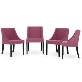 Sada 4 židlí Guy Laroche Creativity Fuchsia