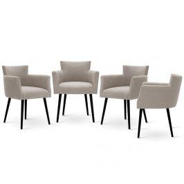 Sada 4 židlí Corinne Cobson Home Billie Taupe