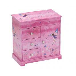 Hudební krabice na šperky Fairy Purple