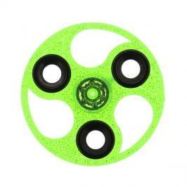 FIDGET SPINNER GLITTER UFO plast zelený