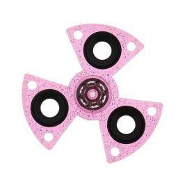 FIDGET SPINNER GLITTER RING plast růžový
