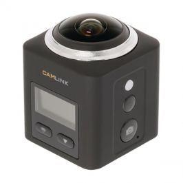 Kamera akční Ultra HD 2K, WiFi, 360°, voděodolná 30m CAMLINK CL-AC360