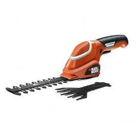 Nůžky aku BLACK & DECKER na trávu a keře 7V/1,0Ah Li-Ion + nůžky na stromky + rukavice GSL700KIT-QW
