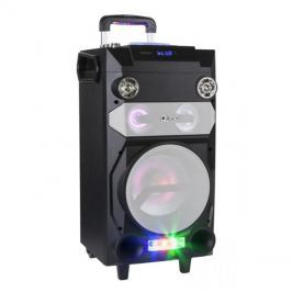 Reprosoustava přenosná QUER, aktivní DJ set, RGB, nahrávání, karaoke KOM0920