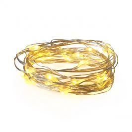 Řetěz vánoční 100 LED, 10m, 3xAA, bílá teplá