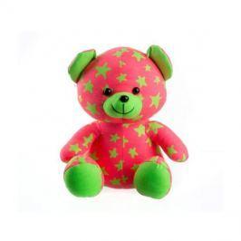 Medvídek plyšový TEDDIES svítící ve tmě růžový / zelený