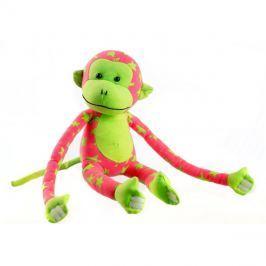 Opička plyšová TEDDIES svítící ve tmě růžová / zelená