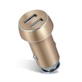 Nabíječka do auta 2x USB 3100 mAh FOREVER zlatá