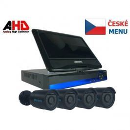 Kamera set SECURIA PRO LCD-AHD4CHV1 720P 4CH DVR + 4x IR CAM analog