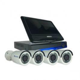 Kamera set SECURIA PRO LCD-AHD4CHV1-W 720P 4CH DVR + 4x IR CAM analog