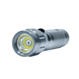 Svítilna led, 3W COB + infra laser, stříbrná, 3x AAA