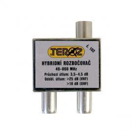 Anténní rozbočovač 2x TV IEC (hybridní) Teroz