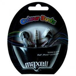 Sluchátka Maxell 303483 Colour Budz Black