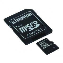 Karta paměťová KINGSTON Micro SDHC 16GB Class 10 + adaptér