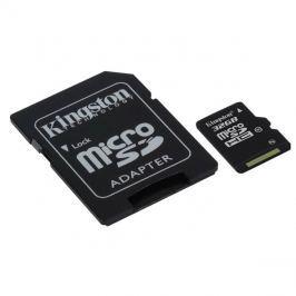 Karta paměťová KINGSTON Micro SDHC 32GB Class 10 + adaptér